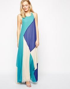 Multicolor Colorblock Geometric Abstract Print Jovonna Hang It Up Maxi Dress @ ASOS $75