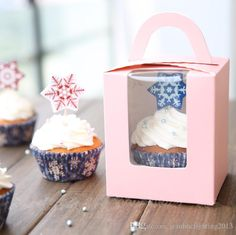 Handheld Single Cupcake Boxes, Muffin Cake Box, Cake Container,Food Packaging For Wedding And Festival Party Com Fazer Cupcake Comofazer Cupcake From Jeanbbcfighting2013, $7.04| Dhgate.Com