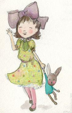 Le lapin dans la lune - Albums - illustration2009