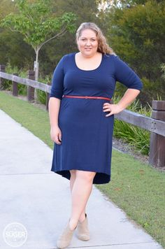 "Melissa from ""sugercoatit"" getting a little bit country in our ""greatest love of all dress"" in ink, check out her post here www.sugercoatit.c... #plussizefasion #fabulousfashionforsizes14-24"