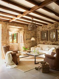 Stone Cottage with Exposed Ceiling