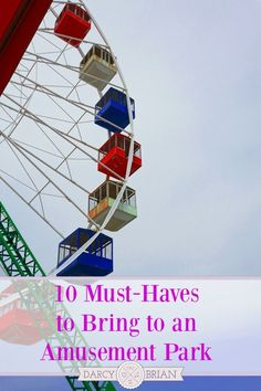 Do you know what you should bring to an amusement park? This list of what you should take to a theme park will help you pack a few essential items so you can be prepared have a fun day trip or vacation without busting your budget.