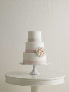 Wedding cake, simple and elegant.