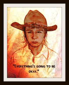 A personal favorite from my Etsy shop https://www.etsy.com/listing/267938394/walking-dead-art-print-carl-portrait-and