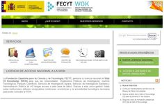 web of knowledge fecyt - Buscar con Google