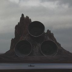 Science-fiction digital landscapes by artist Yuri Shwedoff, based in Moscow, Russia. More from Yuri Shwedoff via designboom… Matte Painting, Yuri Shwedoff, Dystopian Art, Dystopian Future, Post Apocalyptic Art, Fantasy Landscape, Sci Fi Fantasy, Sci Fi Art, Volcano
