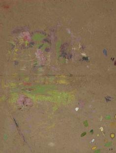 """Édouard Vuillard -  Flowers along the edge of a pond (Fleurs au bord de l'étang, étude), N/D A-Tempera Gallery, Paris, France """""""