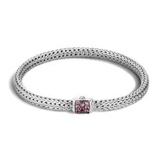 Classic Chain Extra Small Pink Spinel Bracelet - BBS96002SNP