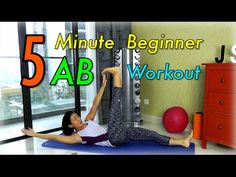 5-Minute Beginner Ab Workout for Flatter Tummy - YouTube