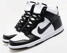 competitive price 3598d 82bff Nike Dunk High in Black and White idk (Cant find these)