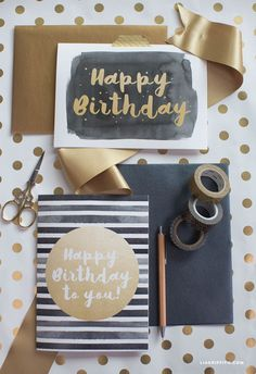 Modern Happy Birthday Card