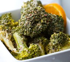 lemon pepper tahini broccoli