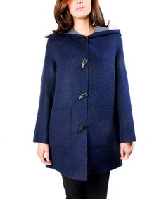 Take a look at this Purple Golondrina Alpaca-Wool Blend Grappa Coat by KUNA on #zulily today! $240 !!