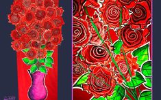 New LESSON: Valentine's Roses. This huge class project artwork is perfect for celebrating Valentine's Day with your class. Visit easypeasyartschool.com.au to find out more.