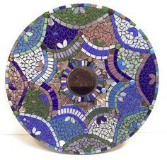 hand cut glass mosaic mandala