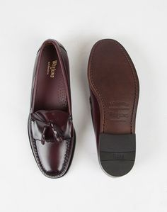 G.H Bass Weejuns Tassle Loafers Burgundy | Shop men's shoes at The Idle Man