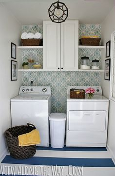 Laundry Room Makeover - DIY Laundry Room Before and After - House Beautiful
