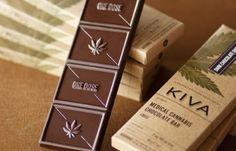 Design Envy · Kiva Confections Packaging Design Takes the Guesswork of Eating Marijuana for Dessert