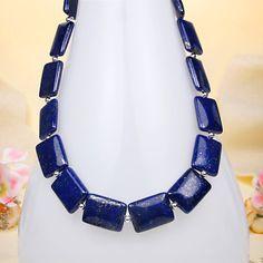 Deep Blue Lapis Sterling Silver Necklace