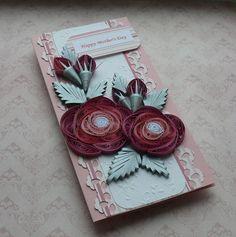 Quilling Happy Mother's Day Card .
