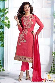 Fantastic designer straight cut Ayesha Takia pink chanderi bollywood salwar kameez online shopping women fashion portal. Get discount price with fabrics of nazneen and cotton embroidery salwar suit. #partywearsalwarsuit,  #bollywoodcelebritywear, #partywaearsalwarkameez, #palazzopartywearsalwarsuit,  #ayeshatakiasalwarkameez, #pakistanisalwarsuit, #embroiderysalwarsuit,  More Product: http://www.pavitraa.in/store/ayesha-takia-salwar-kameez/ Any Query:			 Call Us:+91-7698234040