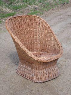 Wicker Chair Wicker Furniture Boho Decor By OldSteamerTrunkJunk