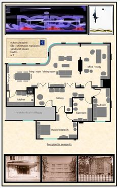 Investigating Agatha Christie's Poirot: The Apartment - Another floor plan Agatha Christie's Poirot, Hercule Poirot, Detective, Crime, Police Story, Midsomer Murders, David Suchet, Angela Lansbury, Miss Marple