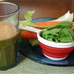 Alkaline Juice | 1 cup of spinach | 1/2 cucumber | 2 stalks of celery including leaves | 3 carrots | 1/2 apple