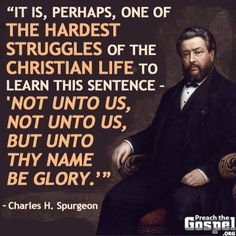 Charles Haddon (CH) Spurgeon June 1834 – 31 January was a British Pa. - Trend Giving Love Quotes 2019 Quotable Quotes, Faith Quotes, Bible Quotes, Bible Verses, Scriptures, Bible Humor, Great Quotes, Quotes To Live By, Inspirational Quotes