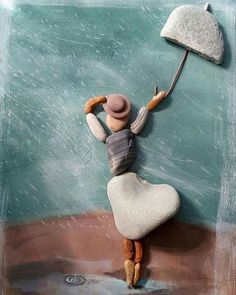 New wood art sculpture crafts 19 Ideas Pebble Painting, Pebble Art, Stone Painting, Pebble Stone, Stone Crafts, Rock Crafts, Diy Crafts, Art Plage, Art Rupestre