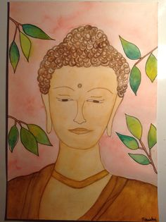 Buddha in watercolour by tarushi