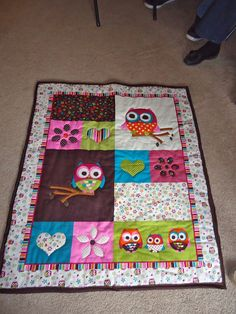 Simple panel quilt tutorial I made for my niece!