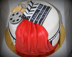 Gâteau cinéma in fondant Movie themed cake in fondant