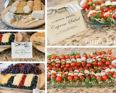 French+appetizers+at+bridal+shower+luncheon