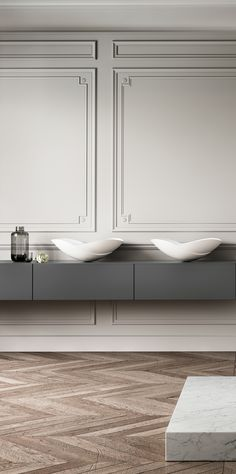 Wall panelling (bathroom by Kelly Hoppen)