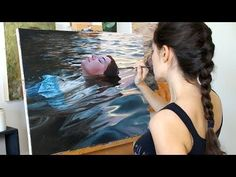 Oil Painting Time Lapse | Floating In Sunset Waters - YouTube