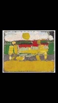 """Nicolas De Staël - """" Paysage """", 1952 - Huile sur toile - 33 x 41 cm"""