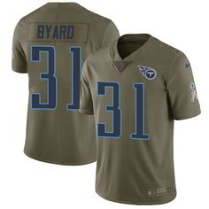 2dbdfeeca Nike Titans #31 Kevin Byard Olive Men's Stitched NFL Limited 2017 Salute To  Service Jersey