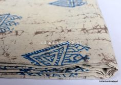 2.5 Yard Indian Dabu Print Pure Cotton Hand Block Print Fabric 04 #Handmade