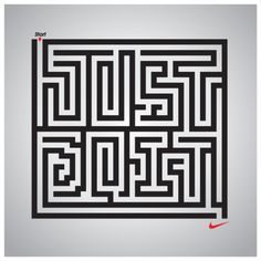 Laberinto tipográfico :)  oliphillips:  Nike: Just Do It  by Jordan Metcalf #Design