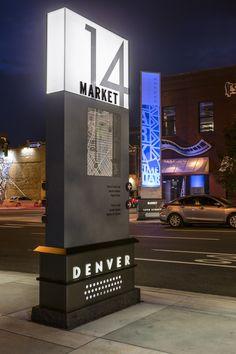 Redevelopment of Denver's Ambassodor Street - Graphis Pylon Signage, Entrance Signage, Outdoor Signage, Exterior Signage, Wayfinding Signage, Signage Design, Environmental Graphic Design, Environmental Graphics, Standing Signage