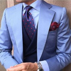 tieoftheday: Morning Combination With Tie by. Gents Fashion, Mens Fashion Suits, Mens Suits, Sharp Dressed Man, Well Dressed Men, Formal Dresses For Men, Suit Combinations, Fashion Network, Gentleman Style