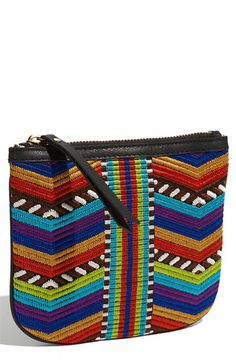 Twelfth Street by Cynthia Vincent Embroidered Zipper Pouch | Nordstrom