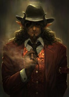 1000+ images about Fantasy race - Tiefling on Pinterest | Demons ...