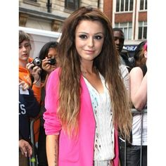 Cher Lloyd Back to the Natural Look Celebrity hair ❤ liked on Polyvore