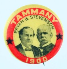 Bryan/Stevenson button, 1900 campaign