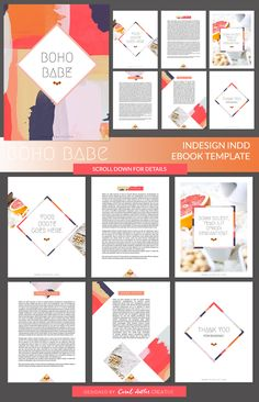 Boho Babe InDesign Ebook Template by Coral Antler Creative on @creativemarket