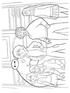 How About To Print And Color The Big Hero 6 Superhero Group Have Fun With This Awesome Printable Coloring Sheet