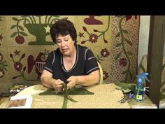▶ Applique with Jan Patek- Eagles & Roses Center Block - YouTube