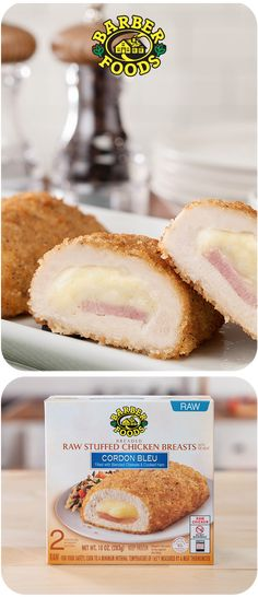 Discover new delicious recipes to complement Barber Foods stuffed chicken breasts with adding the perfect side dish, salad or sauce. Barber Foods, Pasta Recipes, Chicken Recipes, Tasty, Yummy Food, Stuffed Chicken, Cordon Bleu, Food Safety, Chicken Breasts